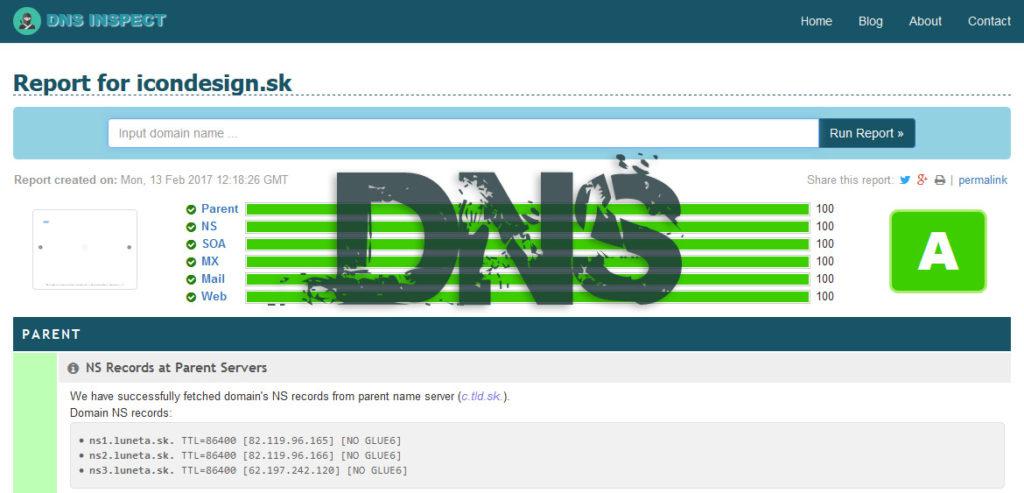 Ako zistím smerovanie DNS domény?